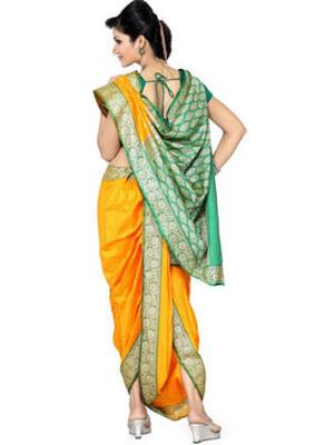 readymade nauvari saree